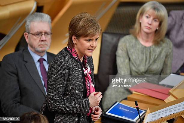 First Minister Nicola Sturgeon and Mike Russell minister with responsibility for Brexit negotiations with the UK government update the Scottish...