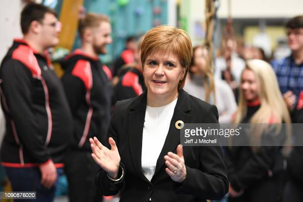First Minister Nicola Sturgeon announces an extra £50 million of investment in the Tay Cities region by the Scottish Government, during a visit to...