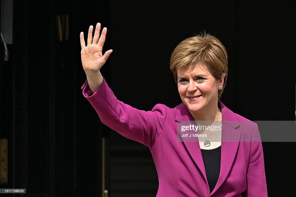 Sturgeon Hails SNP's Fourth Consecutive Election Win : News Photo