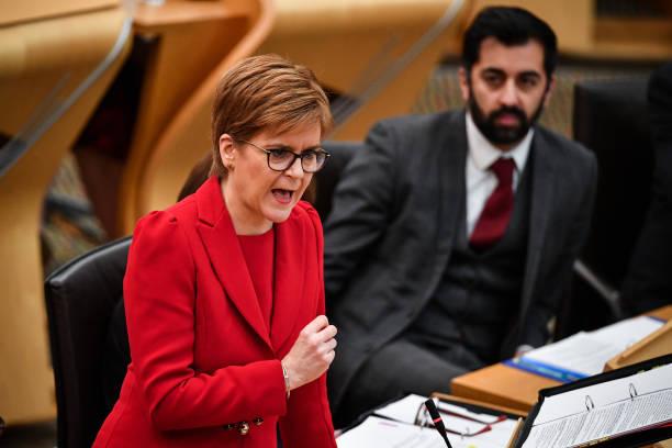 GBR: Nicola Sturgeon Attends FMQs