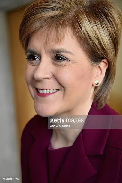 First Minister Nicola Sturgeon attends First Ministers Questions at the Scottish Parliament on April 2 2015 in Edinburgh Scotland Tonight will see a...