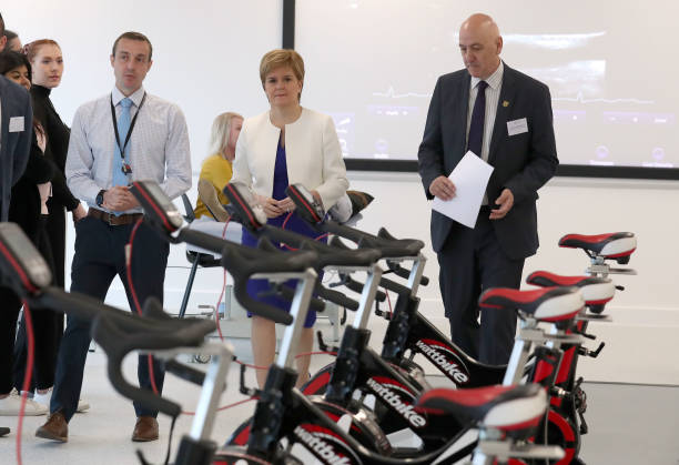 GBR: First Minister Nicola Sturgeon Visits New UWS Lanarkshire Campus