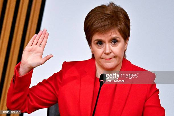 First Minister Nicola Sturgeon gives evidence to a Scottish Parliament committee examining the handling of harassment allegations against former...