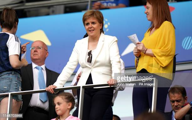 First Minister Nicola Sturgeon in the stands during the FIFA Women's World Cup Group D match at the Stade de Nice