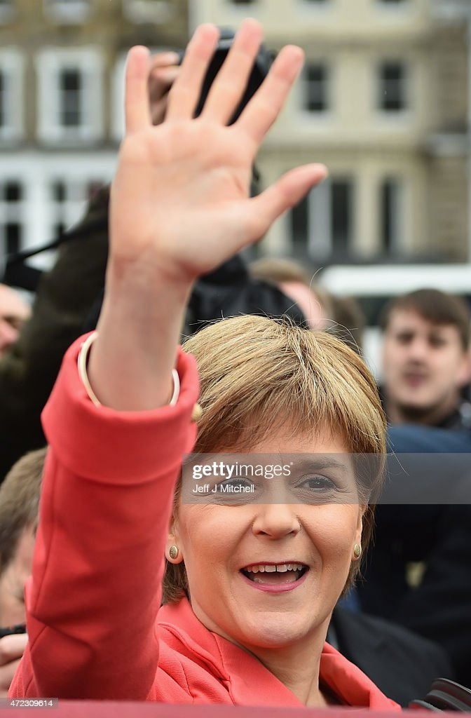 Nicola Sturgeon Completes Her Election Campaigning In Edinburgh