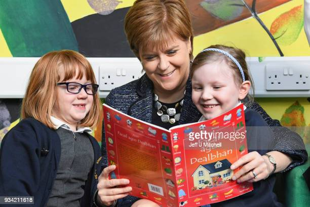 First Minister Nicola Sturgeon meets pupils at Riverside Primary School to announce further expansion of the First Minister Reading Challenge on...