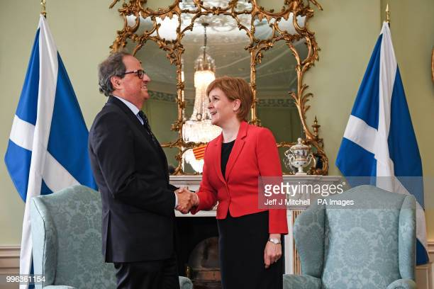 First Minister Nicola Sturgeon meets Quim Torra, President of Catalonia at Bute House in Edinburgh for talks.