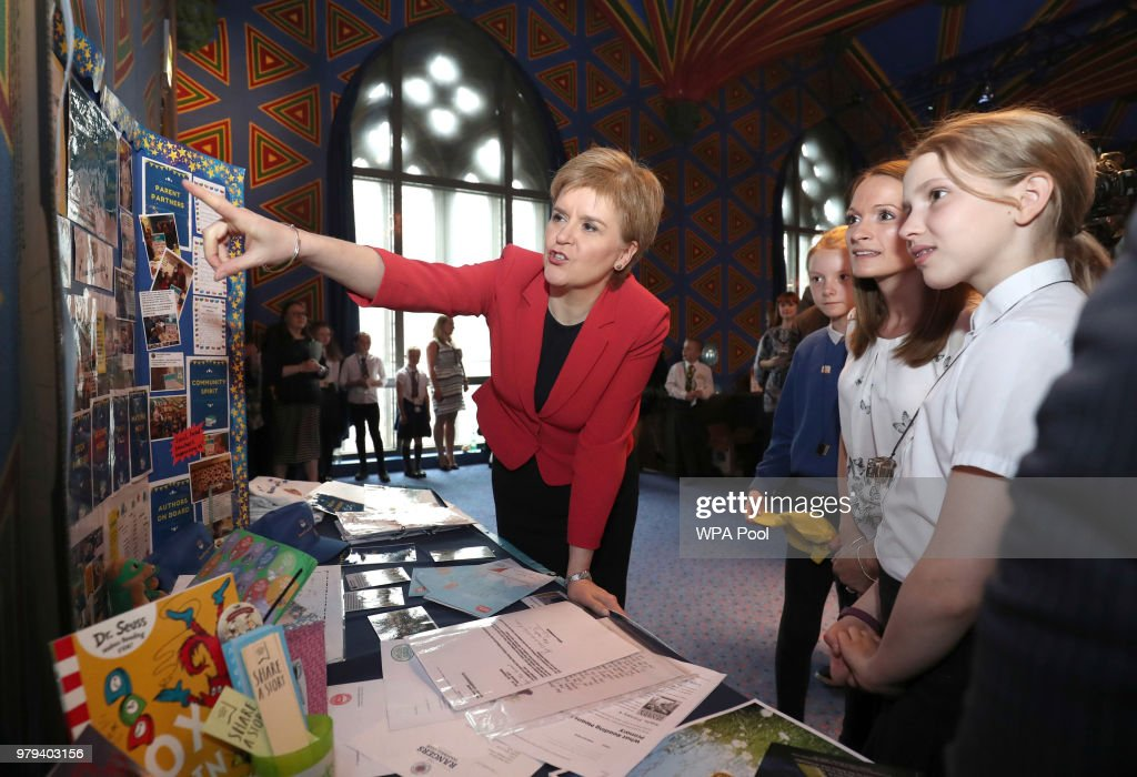 Nicola Sturgeon Attends The Hub Reading Challenge In Edinburgh