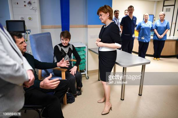 First Minister Nicola Sturgeon officially opens NHS Tayside Trauma Centre at Ninewells Hospital on November 19 2018 in Dundee Scotland The Dundee...