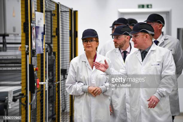 First Minister Nicola Sturgeon visits Spirit Aero Systems to open a major new facility manufacturing spoiler wing components for Airbus' A320...