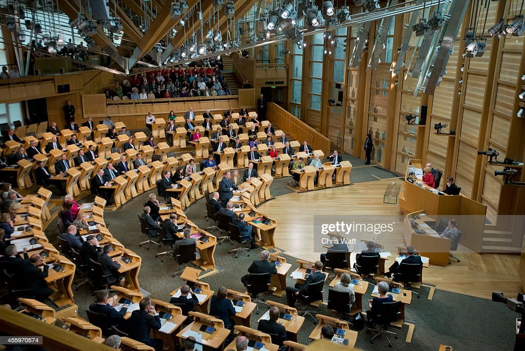 Alex Salmond Returns To Holyrood For First Time Since Referendum : News Photo