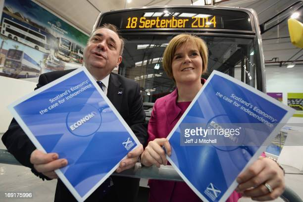 First Minister of Scotland Alex Salmond and Deputy First Minister Nicola Sturgeon launch a paper outlining the nation's economic strengths on May 21...