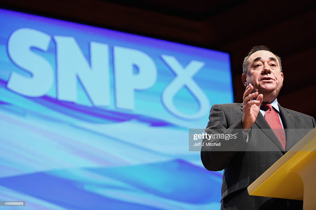 Alex Salmond Makes His Last Keynote Speech At The SNP Conference : Foto jornalística