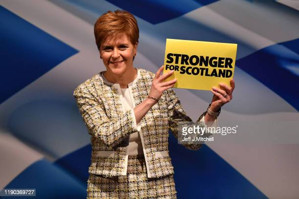 First Minister of Scotland and leader of the Scottish National Party, Nicola Sturgeon launches the SNP's general election manifesto at SWG3 studio...