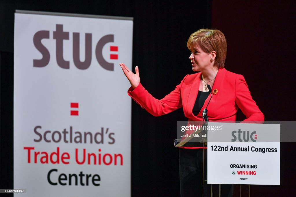 GBR: Nicola Sturgeon Addresses The Scottish TUC Annual Conference