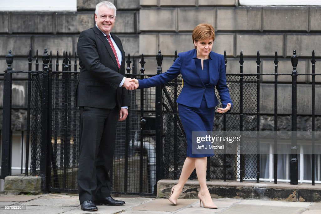 First Minister Of Scotland Meets The First Minister Of Wales