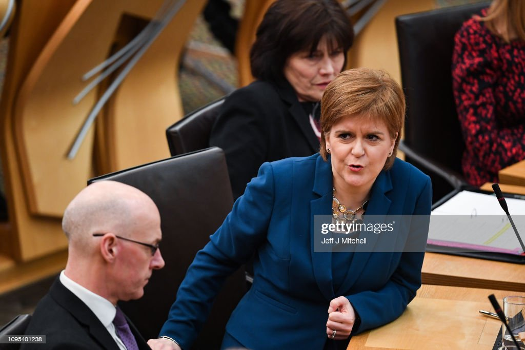 Nicola Sturgeon Takes First Minister's Questions : News Photo