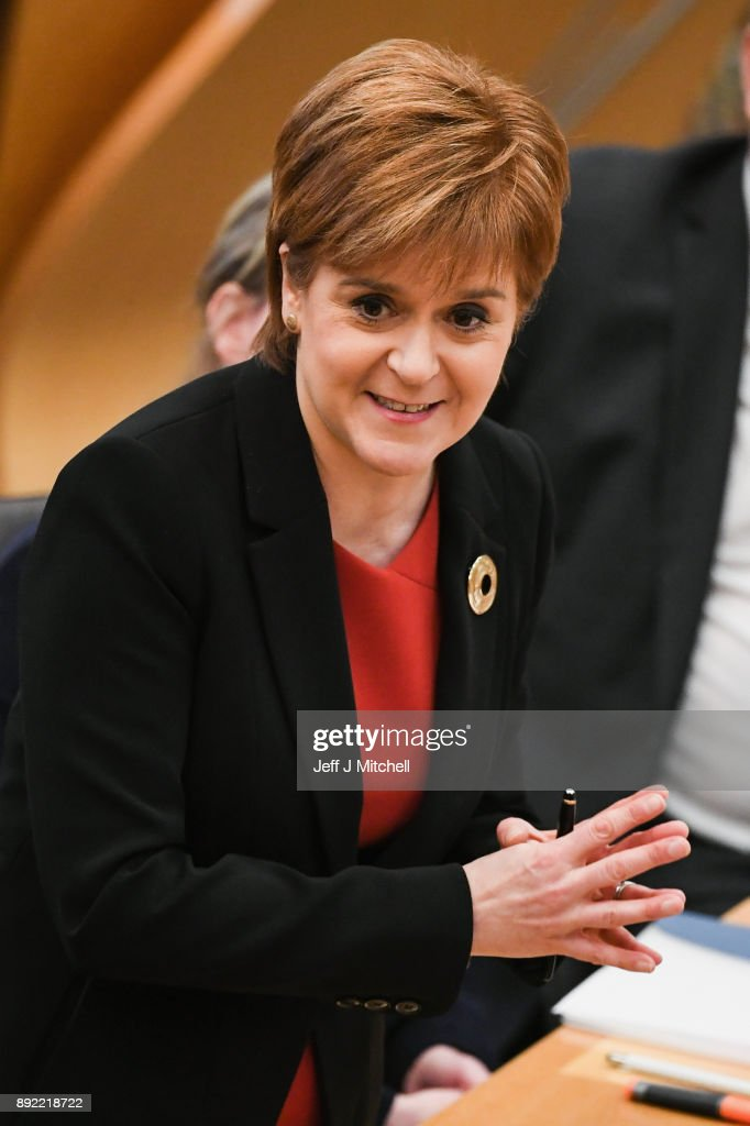 Nicola Sturgeon Participates In First Minster's Questions