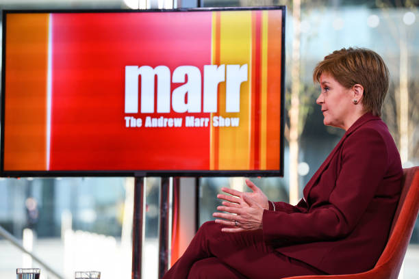 GBR: Scottish First Minister Nicola Sturgeon Appears On The Andrew Marr Show