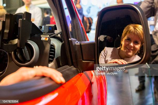 First Minister of Scotland Nicola Sturgeon attends the 84th annual SNP conference at the Scottish Exhibition and Conference Centre at SECC on October...