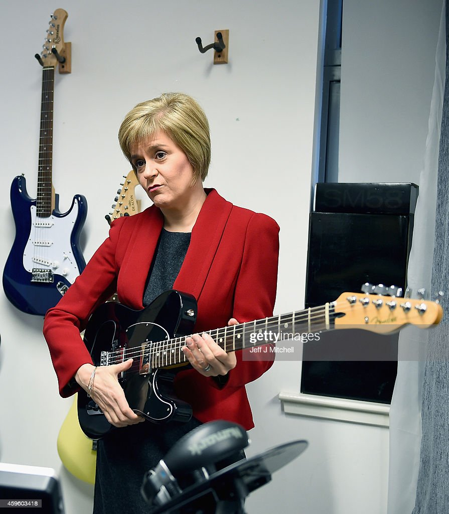First Minister of Scotland Nicola Sturgeon To Outline Scottish Government Plans For The Coming Year : News Photo