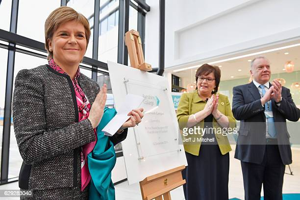 First Minister of Scotland Nicola Sturgeon officially opens the revamped Kilmarnock campus of Ayrshire College on December 12 2016 in Kilmarnock...