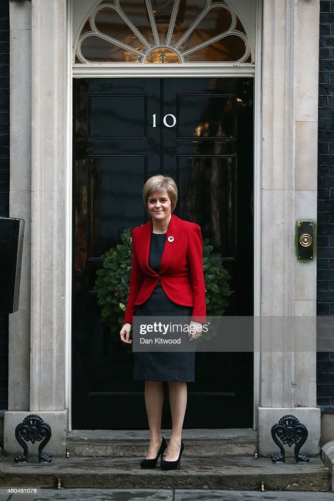 First Minister Nicola Sturgeon Meets With Prime Minister David Cameron : News Photo