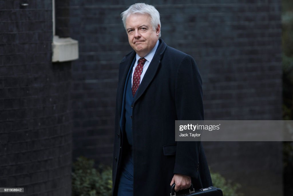 First Minister of Wales Carwyn Jones arrives for the Joint Ministerial Committee Meeting at 10 Downing Street on March 14, 2018 in London, England. The Joint Ministerial Committee (JMC) acts as a focus for the coordination of the relationships between the devolved governments of the UK. Attending the meeting with British Prime Minister Theresa May today is the First Minister of Wales Carwyn Jones and First Minister of Scotland Nicola Sturgeon.