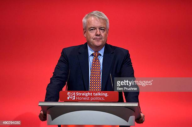 First Minister of Wales Carwyn Jones speaks during the Wales Report during the first day of the Labour Party Autumn Conference on September 27 2015...