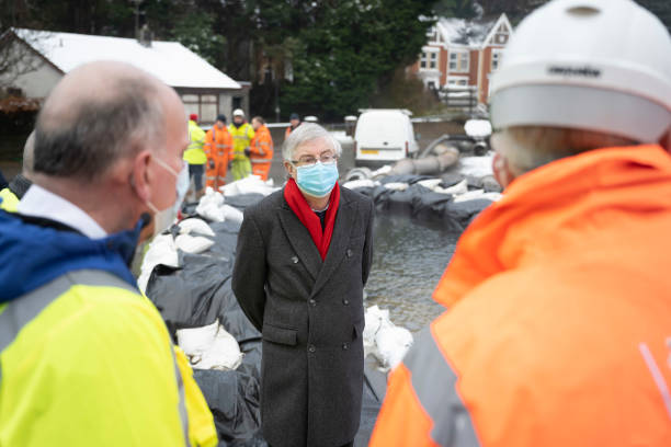 GBR: Welsh First Minister Mark Drakeford Visits Flood-Hit Area