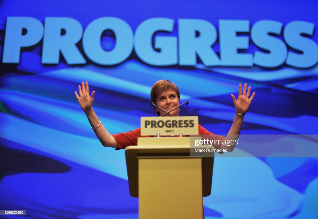 Nicola Sturgeon Makes Her Keynote Speech At The SNP Autumn Conference 2017