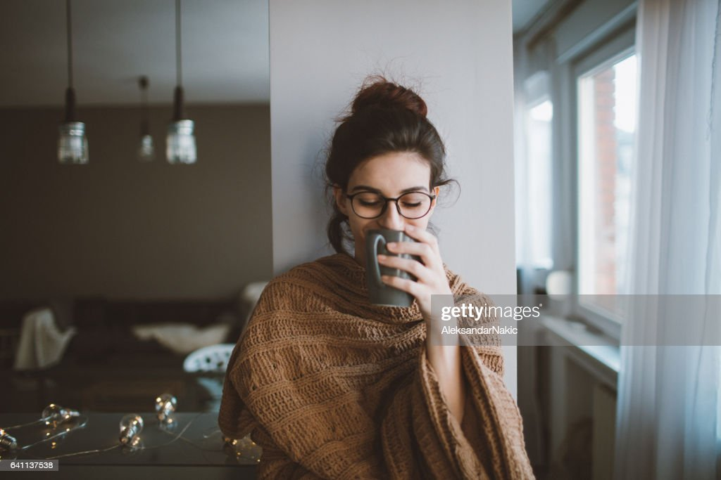 First morning coffee : Stock Photo