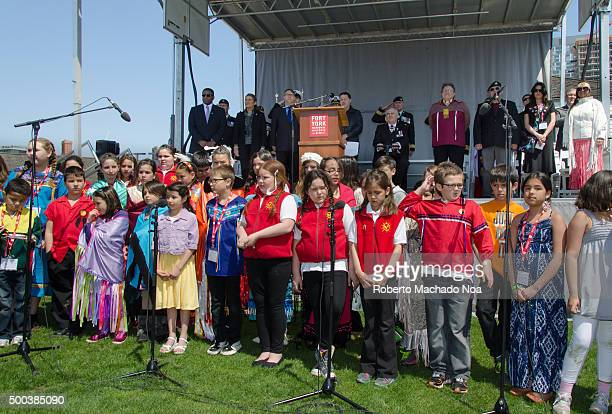 YORK TORONTO ONTARIO CANADA First Nations Choir in Bicenternary of Battle of York celebrations The City of Toronto and the Canadian Armed Forces...