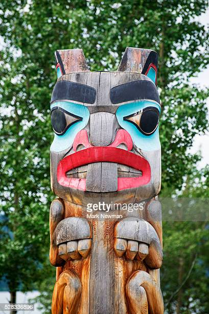 First Nations Totem; Teslin, British Columbia, Canada