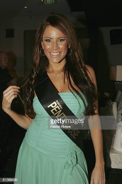 First New Zealand cover girl HaleyMarie attends the announcement of the 2004 Australian Penthouse Pet Of The Year for the 25th anniversary of the...