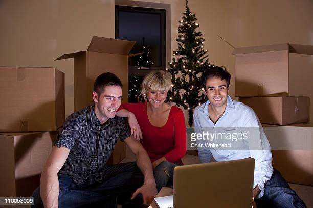 Erste Nacht in apartment in christmas-englische Redewendung