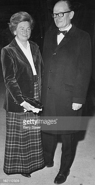 NOV 4 1971 NOV 5 1971 First Nighters At Bonfils Theatre Mr and Mrs Robert Timothy arrive at Bonfils Theatre for Thursday's opening of The Night...