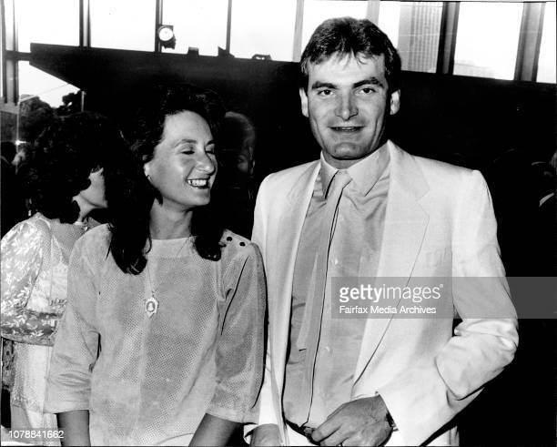 First Nighters at Opera House Bonynges Son Adam amp Wife The football starlooking Adam Bonynge at Adriana His parents were performing and his wife...