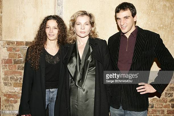 First Of 'Quand Je Serai Star'On January 18Th 2005 In Paris France Souhade Temimi Eva Ionesco Yvan Fahl