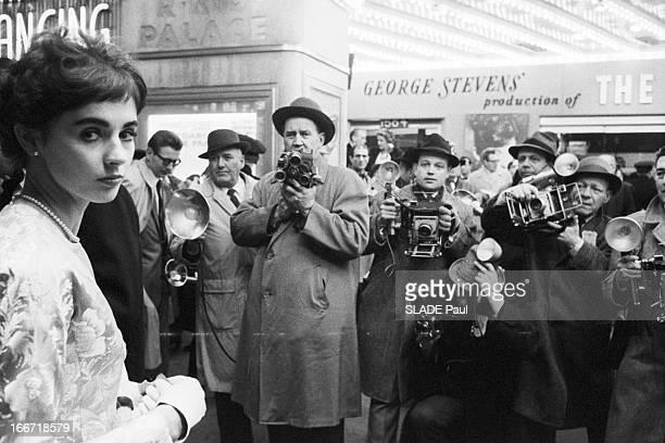 First Of The Film The Diary Of Anne Frank By George Stevens In New York Le 20 mars 1959 aux Etat Unis à Broadway à l'occasion de la première du film...
