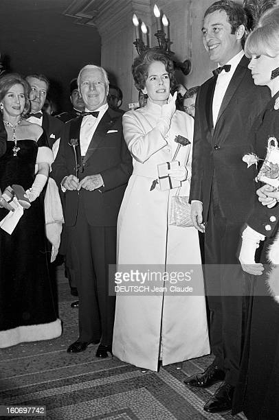 First Of The Movie 'the Countess From Hong Kong' Of Charlie Chaplin In Paris Paris 13 janvier 1967 A l'occasion de la première du film 'La Comtesse...