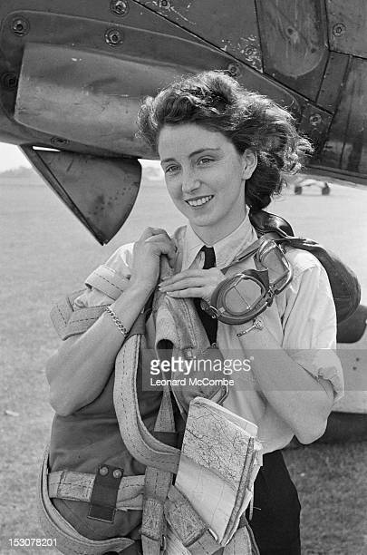 First Officer Maureen Dunlop of the ATA exits a Fairey Barracuda torpedo bomber September 1944 ATA pilots are trained to deliver newly manufactured...