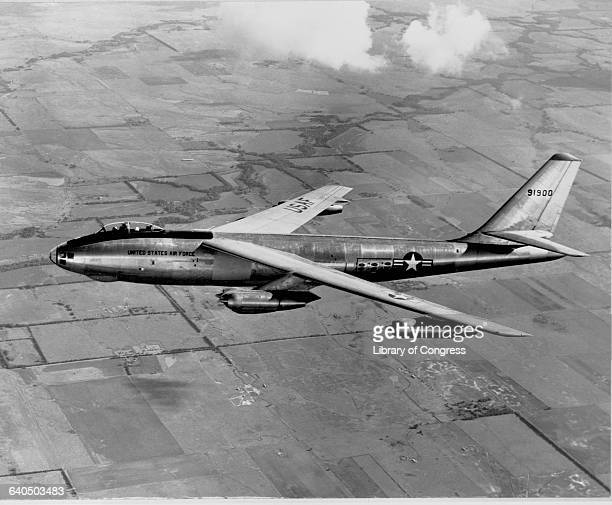 First official photos reveal production model of the B47 Stratojet in a test flight near Wichita Kansas August 11 1950