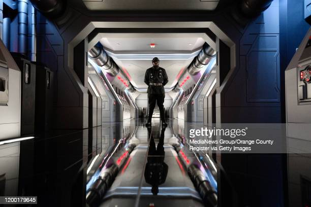 First Order guard stand on a Star Destroyer during Rise of the Resistance at Star Wars Galaxyu2019s Edge inside Disneyland in Anaheim CA on Thursday...
