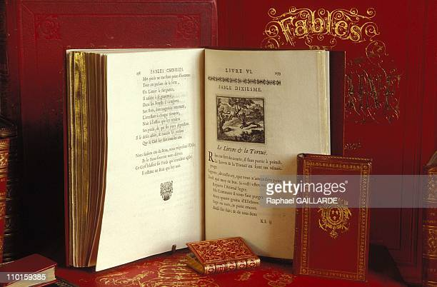 First original edition of the fables illustrated by Francois Chauveau at The Tercentenary of Death of JDe La Fontaine in France in April 1995
