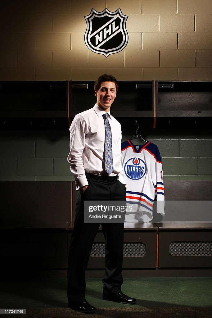 First overall pick Ryan Nugent-Hopkins of the Edmonton Oilers stands for a photo portrait during day one of the 2011 NHL Entry Draft at Xcel Energy Center on June 24, 2011 in St Paul, Minnesota.