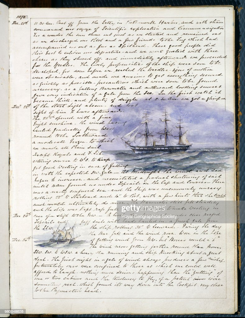 first page from the journal of hms challenger 1872 a personal