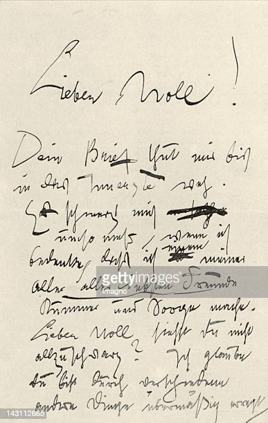 First page of a letter which Gustav Klimt wrote to Carl Moll Superscription Lieber Moll May 19th 1899 Vienna Austria
