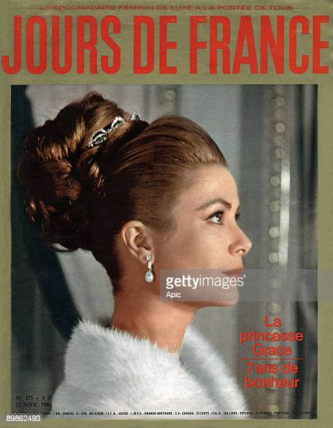 First page of the weekly feminine luxury to all Jours de France 23 November 1963 in illustration of Princess Grace of Monaco