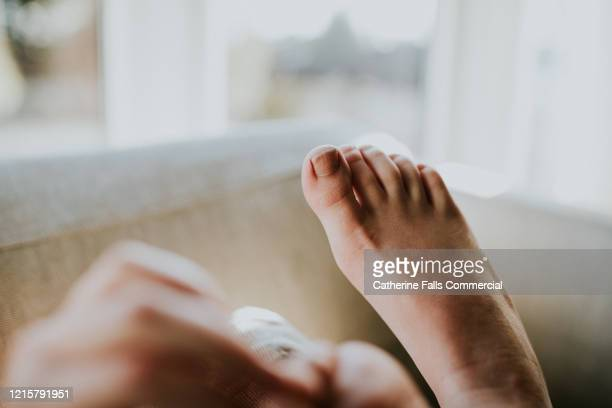 first person perspective - feet - foot bone stock pictures, royalty-free photos & images